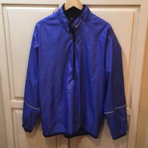 Vintage 90s nike half zip windbreaker jacket L